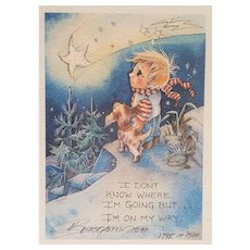 Jody Bergsma Gallery ~ 1987 ~ Limited Edition ~ signed, numbered, catalogued