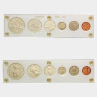 1962 CANADIAN Mint Set ~ Encapsulated Coin Currency