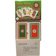 TUDOR ROSE double deck Piatnik Playing Cards of Austria ~ 1980