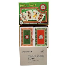 TUDOR ROSE double deck Piatnik Playing Cards of Austria ~ 1980
