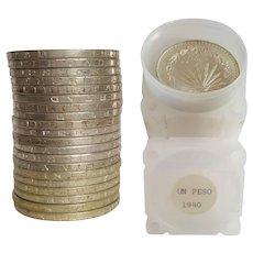 1940 MEXICO un peso ~ silver .72 fineness coin