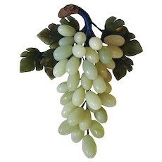 Lovely Alabaster Stone Grape Cluster ~ late-1960's Italy