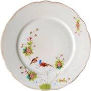 RARE '1890' Manifattura GINORI a Doccia Presso Firenze ~ Asian inspired, Antique Cabinet Plate of Birds