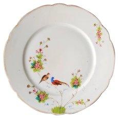 RARE '1890' Manifattura GINORI a Doccia Presso Firenze ~ Asian inspired, Antique Cabinet Bird Plate