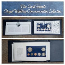 1981 ~The Cook Islands 'Royal Wedding' Commemorative Coinage & Stamps ~ COA