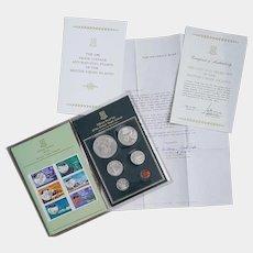1985 Virgin British Islands Proof Coinage & Stamps original set ~ COA