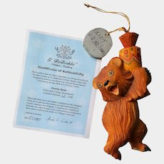 SCARCE Christmas Ornament ~ Russian DEREVO 'Candy BEAR' ~ limited edition with COA
