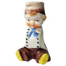 Adorable Dutch Boy, hand-painted Porcelain Napkin Ring ~ Made in Japan ~ post-1952