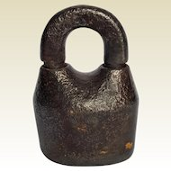 Scandinavian Jailhouse Cast Iron Padlock ~ late-1800's antique