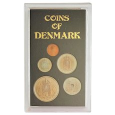 1976 Coins of DENMARK ~ Mint Coin Currency Set