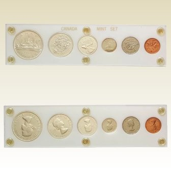 1962 CANADIAN Mint Set ~ Coin Currency