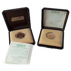 Proof GOLD Coin ~ 250 Mexico Pesos ~ 1986 World Cup Soccer Games with COA