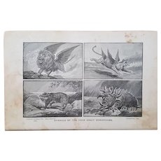 Four Great Monarchies ~ Religious Engraving plates collection ~ 'Bible Readings for the Home Circle' ~ 1888