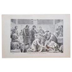CHRIST Teachings ~ Religious Engraving plates collection ~ 'Bible Readings for the Home Circle' ~ 1888