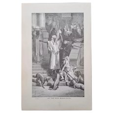 LESSONS & CONSEQUENCES ~ Religious Engraving plates collection ~ 'Bible Readings for the Home Circle' ~ 1888
