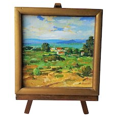 Branko Velkovich ~ Diminutive California Country-Side Painting ~c.1960's