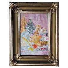 Original Russian Impressionist Oil Painting on board ~Lidya Milova ~1970