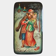 'The Snow Maiden' Russian Folktale ~ Palekh Lacquer Trinket Box ~ Artist Signed