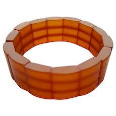 vintage Russian 'pressed' Baltic Amber ~ Stretch Bracelet Bangle