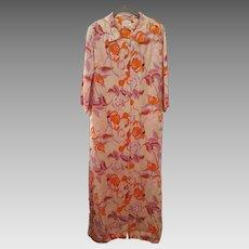 'At Home Wear' by Van RAALTE ~ vintage 1970's ~ Hostess Dress Gown