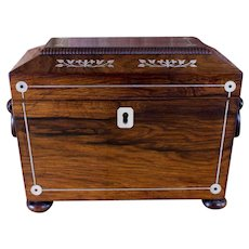 Twin Tea Caddy Mother of Pearl William IV 1830