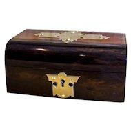 Coromandel Jewellery Box with brass c.1850