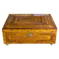 Burr Yew Georgian Table Box original condition c.1790