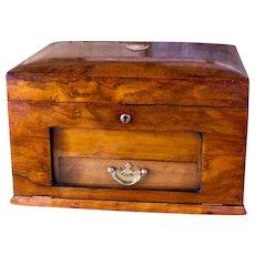 Figured Walnut Work Box c.1890