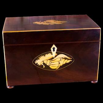 Mahogany Twin lid Tea Caddy c.1790