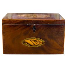 Sheraton Mahogany Twin Tea Caddy c.1790
