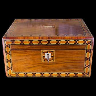 Figured Walnut Table Box c.1880