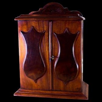 Flamed Mahogany Collectors Cabinet c.1860