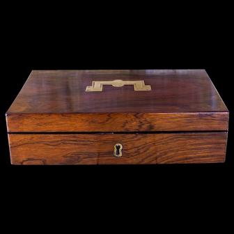 Rosewood Pistol Box c.1820 Empty
