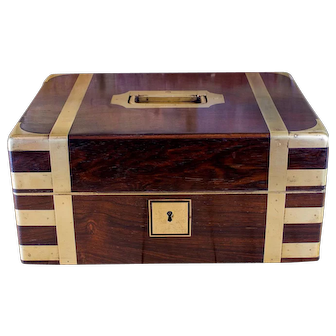 Rosewood Brass Bound Campaign Box c.1820