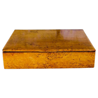 Solid Satinwood Birch Table Box c.1920
