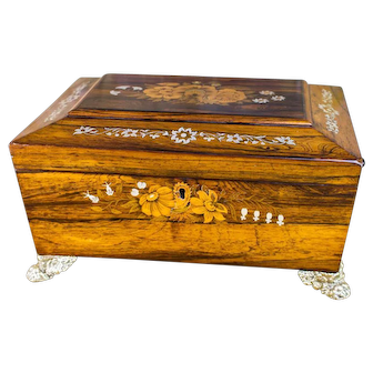 Mother of Pearl Regency Table box c.1820