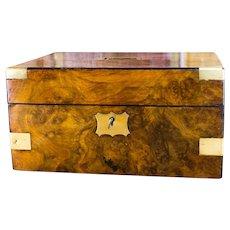 Figured Walnut Victorian Gents box c.1850