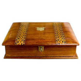 Mahogany Tunbridge Ware Book box c.1880