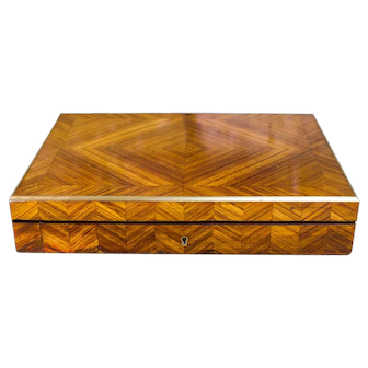 Kingwood Brass Bound Table Box c.1870