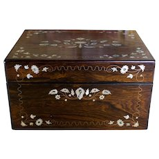 Rosewood Silver plate Vanity Box c.1840