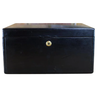 Collectors Leather Jewellery Box c.1900