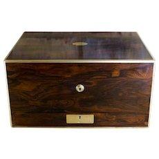Rosewood Brass Bound Gent's Box c.1830