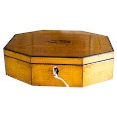 Octagon Satin Birch Ladies Box c.1820