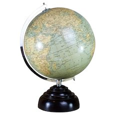 10 inch Geographia Globe Fleet Street London c.1930