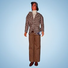 Vintage Barbie 4224 Mod Hair Ken Doll in Original Outfit with Wrist Tag