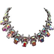 1950s Bohemian Crystals choker necklace, Art Deco style