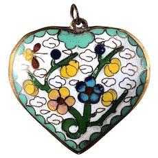 Cloisonné Heart Pendant from Artist Don Blome's Estate