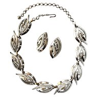Rare Charel Silver Tone Necklace and Earring Set