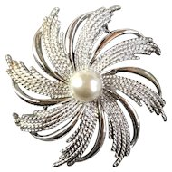 Sarah Coventry Brooch Silver Tone Spiral