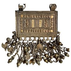 Bedouin Silver Prayer Box Necklace